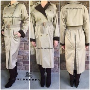 Burberry wool trimmed belted trench coat